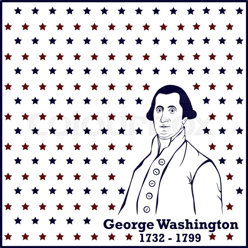 800x800 Silhouette George Washington. American President, Vector