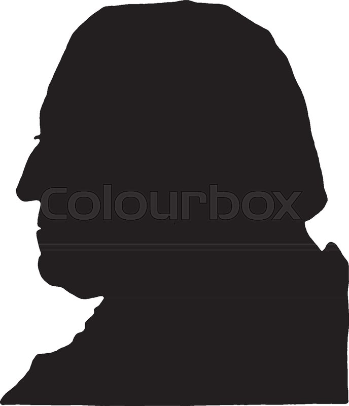 688x800 Silhouette Of George Washington, Vintage Line Drawing Or Engraving