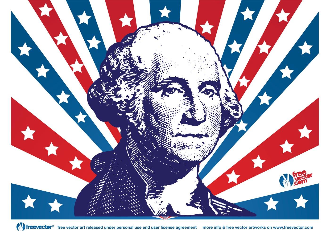 1400x980 George Washington Free Vector Art