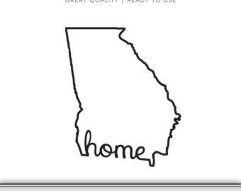 340x270 Georgia Home State Outline Graphic Georgia Svg Georgia Dxf Etsy