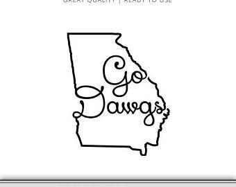 340x270 Georgia Svg Georgia State Outline Svg Georgia State Svg Etsy