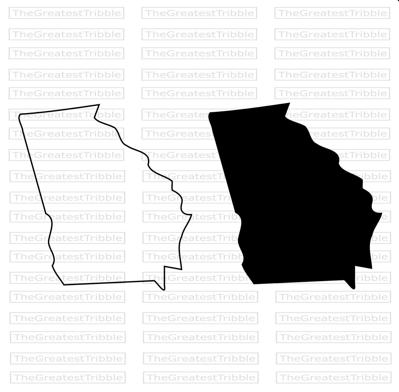 1500x1474 Georgia State Map Svg Png Jpg Eps Vector Graphic Clip Art Georgia