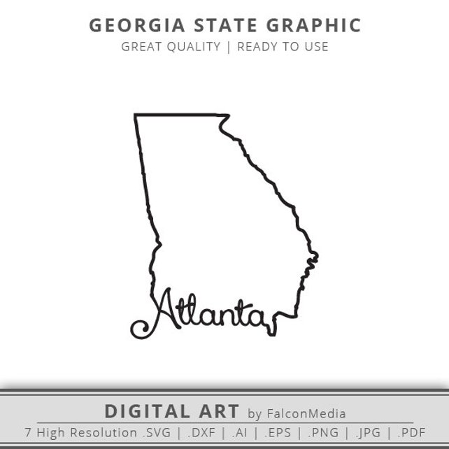 642x642 Atlanta Svg Georgia Svg Georgia State Outline Svg Etsy