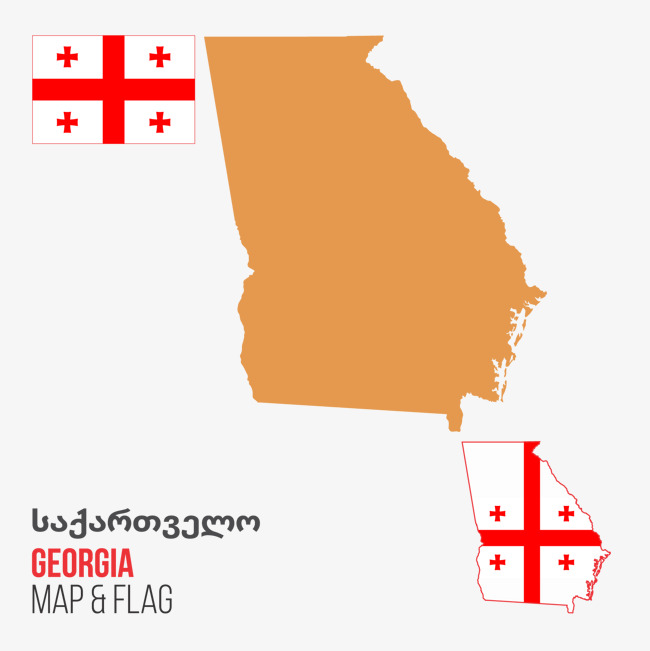 650x651 Georgia Vector Map, Map Vector, Georgia, Vector Map Png And Vector