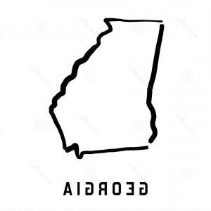 300x300 Georgia Vector Map Icon State Of Georgia Map Contour Outline