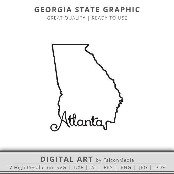 570x570 Atlanta Svg Georgia Svg Georgia State Outline Svg Etsy