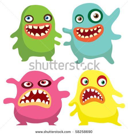 446x470 Virus Bacteria Vector Cartoon Germ Vector Cartoon Germ Cartoon