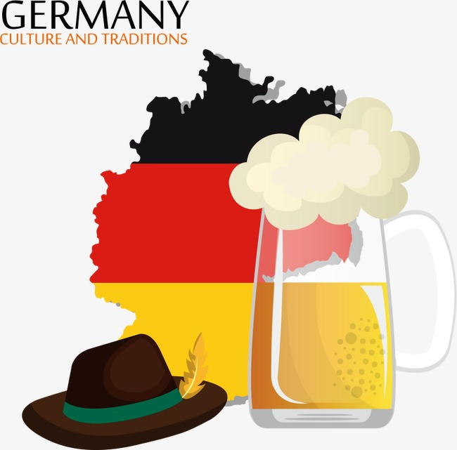 650x641 Germany Vector Map And Beer, Germany Map, Beer, Cartoon Beer Png