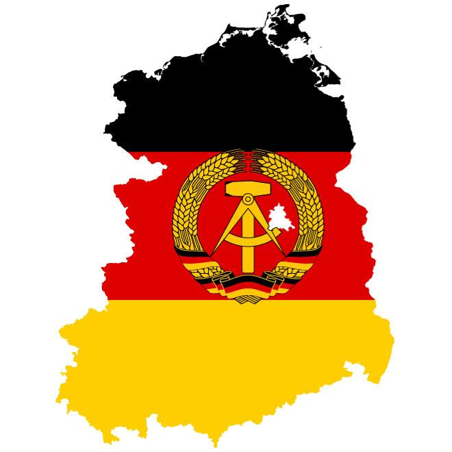 660x660 Map Of East Germany Vector