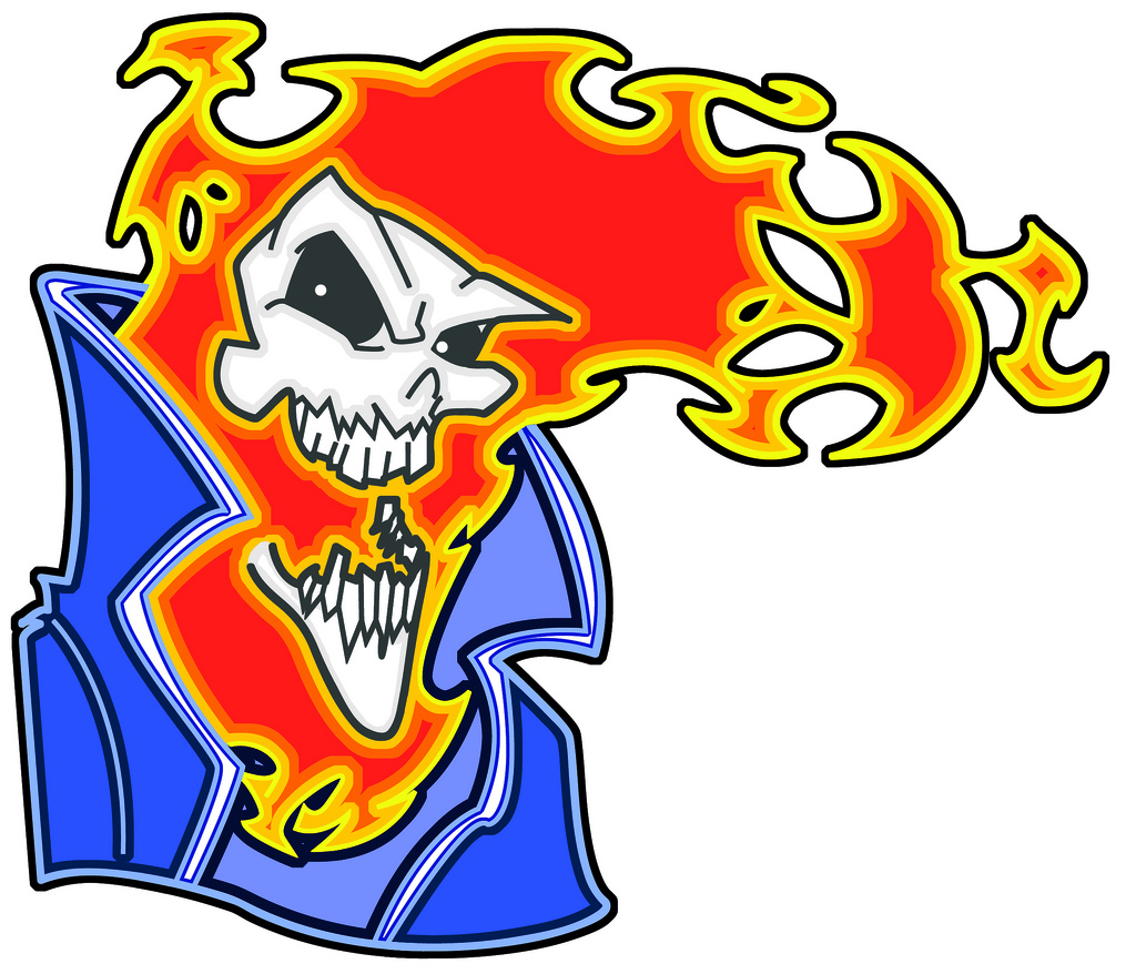 1024x878 1 Step Before Insanity Ghost Rider Vector Colors Click On Image