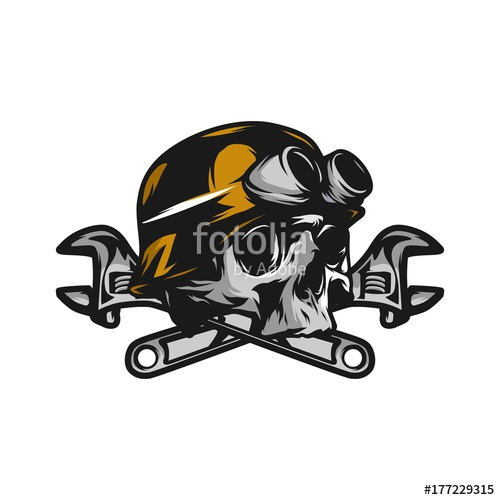 500x500 Skull Ghost Rider Road Biker Vector Logo Illustration Stock Image