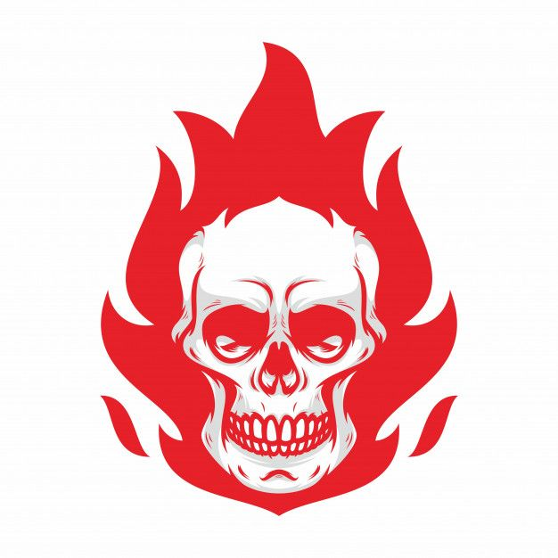 626x626 Skull Ghost Rider Road Vector Logo Design Illustration Premium