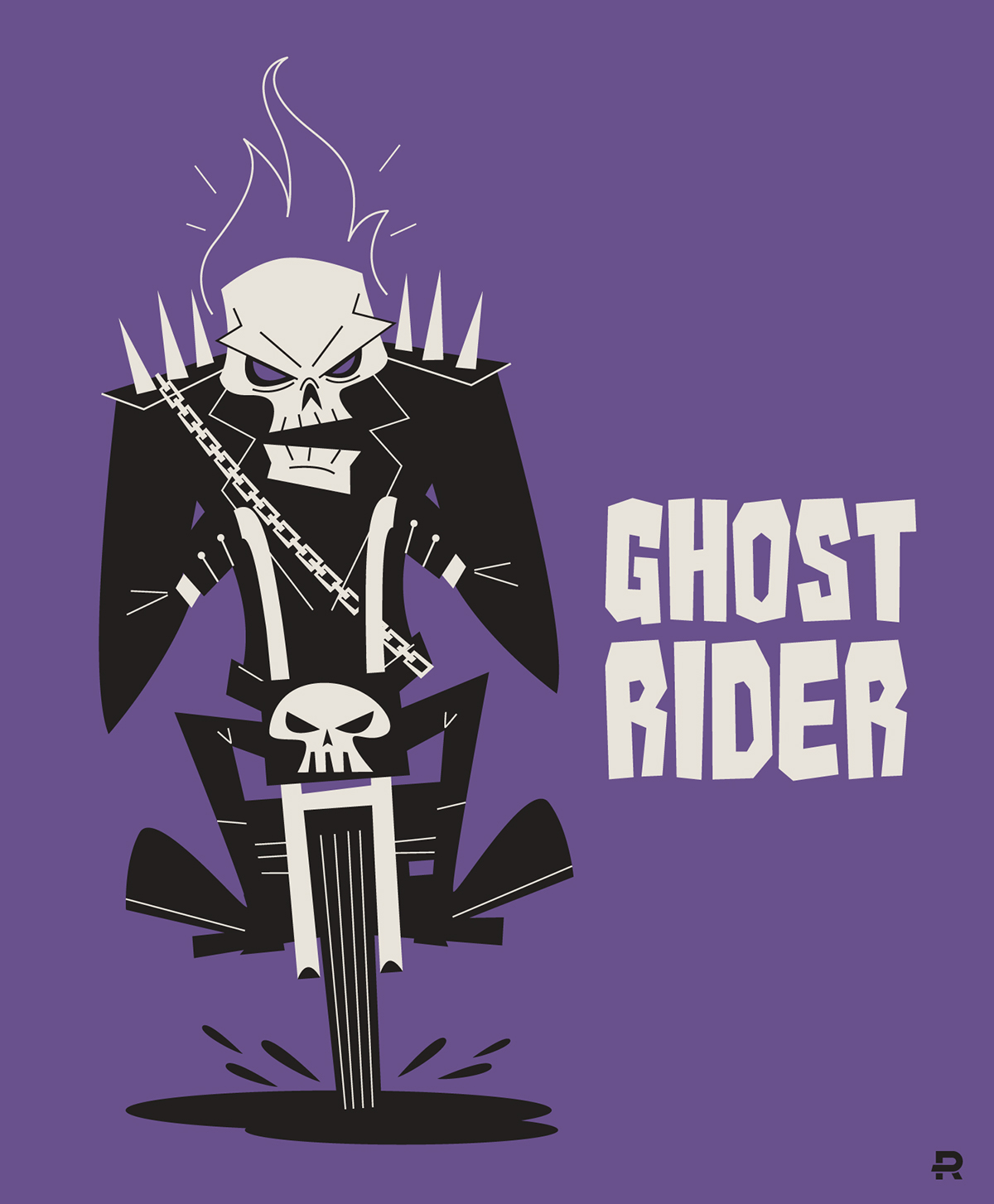 1200x1454 Ghost Rider Vector On Behance