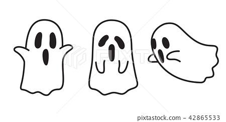 450x243 Ghost Vector Icon Halloween Spooky Cartoon