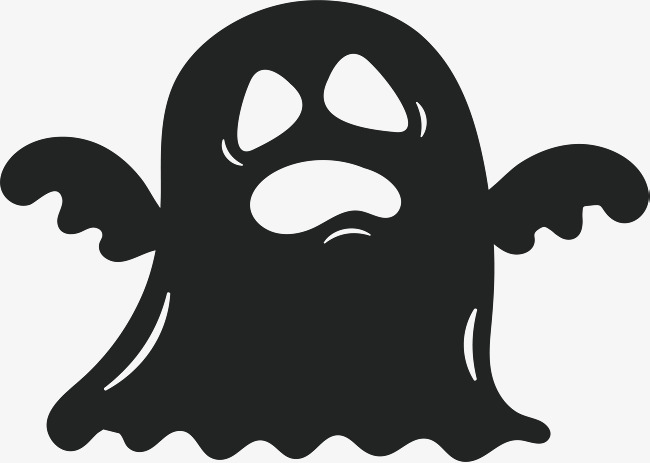 650x463 Scary Ghost, Vector Png, Ghost, Black Ghost Png And Vector For