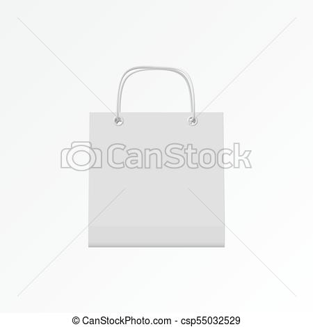 450x470 Eps10. Gift Bag With A Rope Handle On A White Background. Vector