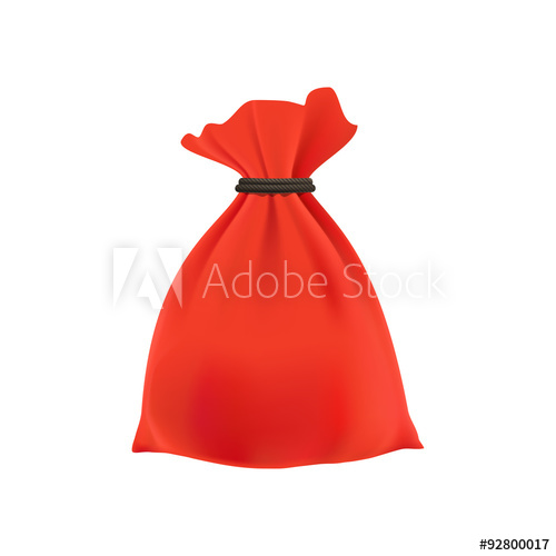 500x500 Gift In A Bag. Vector Illustration