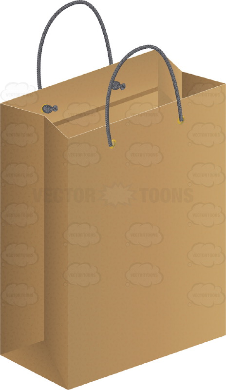 464x800 Large Brown Paper Gift Bag Clipart By Vector Toons