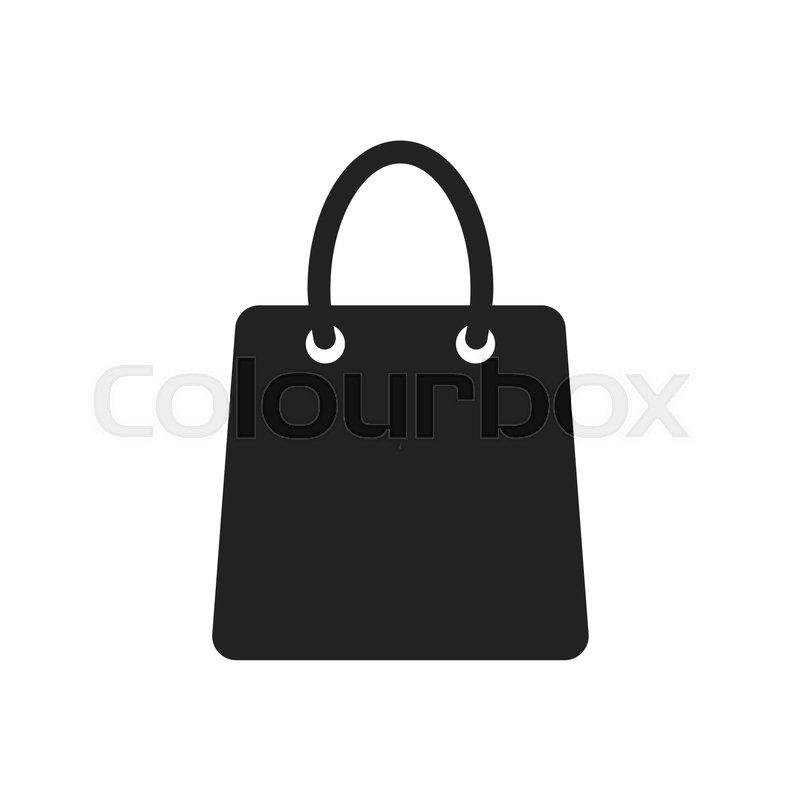800x800 Shopping Bag Vector Icon. Shop Sale Bag Flat Vector Illustration
