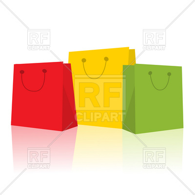 400x400 Three Smiling Shopping Bags Vector Image Vector Artwork Of