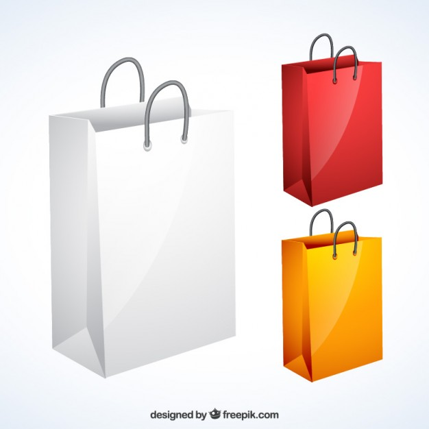 626x626 Variety Of Shopping Bags Vector Free Download