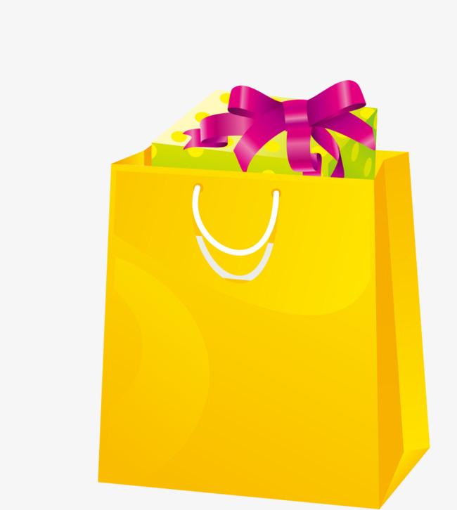 650x726 Vector Yellow Shopping Bag Gift, Shopping Vector, Bag Vector, Gift