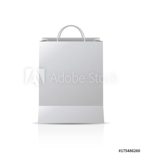 462x500 Mock Up Of Gift Bag. Vector Design Blank