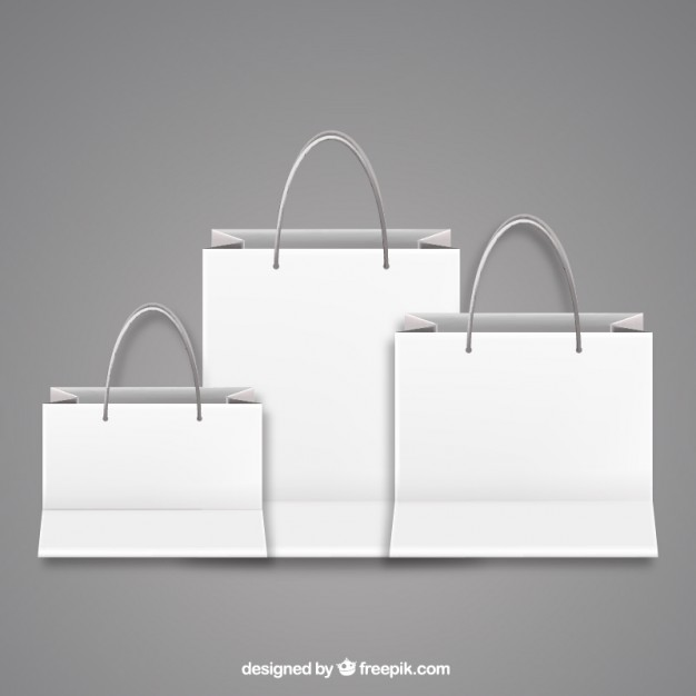 626x626 Blank Shopping Bags Vector Free Download