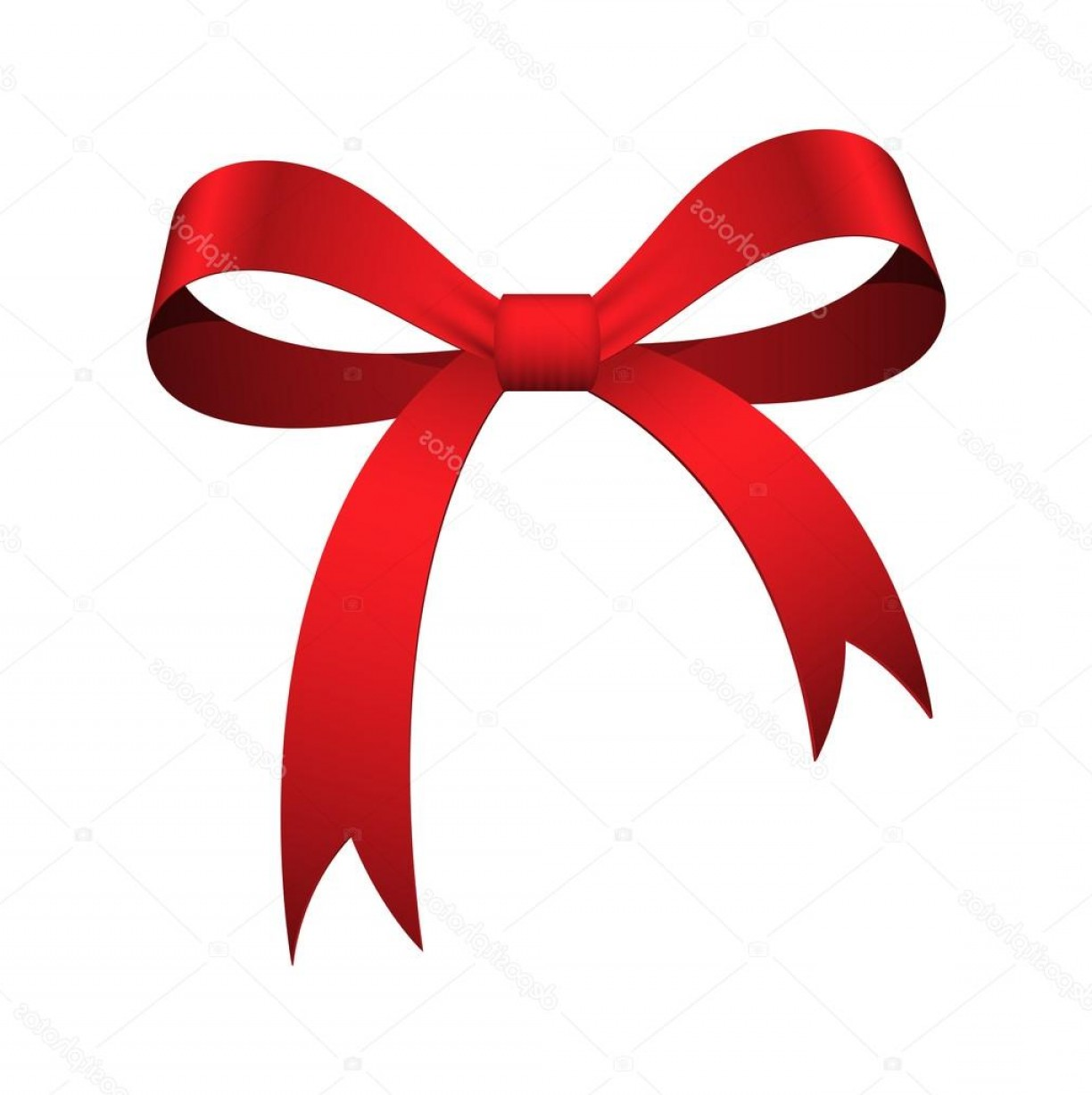 1224x1228 Christmas Red Bow Vector Shopatcloth