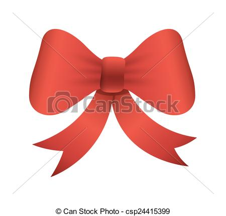 450x431 Gift Bow Vector Element. Decorative Red Christmas Occasion Gift