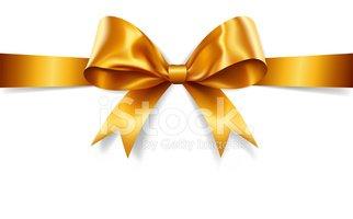 322x200 Gold Gift Bow (Vector) Stock Vectors