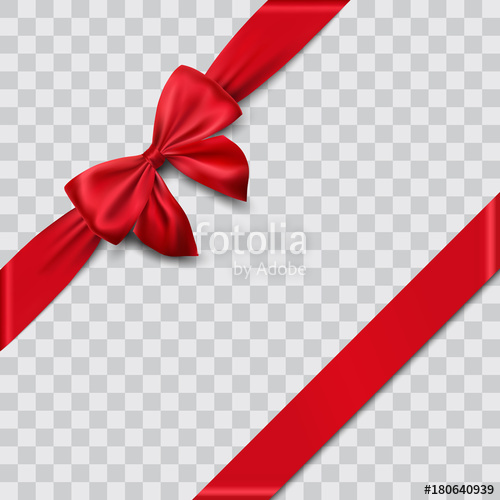 500x500 Red Satin Ribbon And Bow Vector Illustration Stock Image And