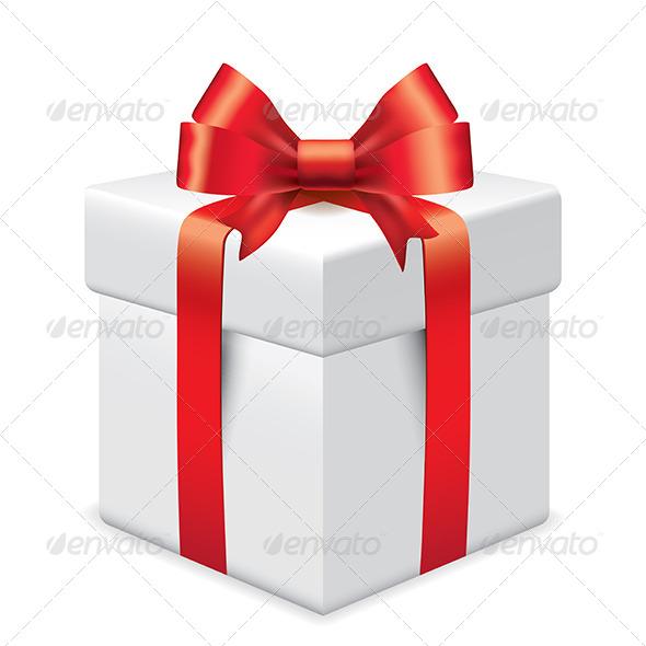 590x590 Photo Realistic Gift Box Vector Illustration By Andegro4ka
