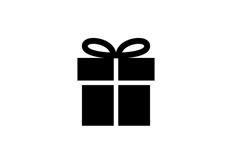 800x566 Simple Present Box Vector Icon
