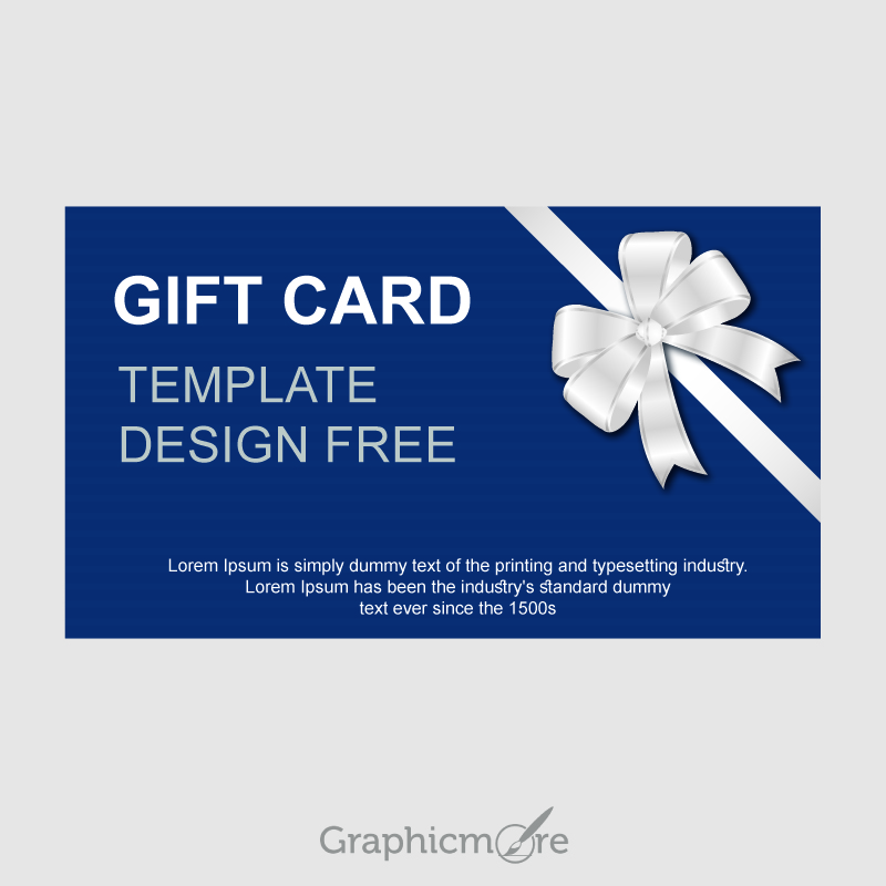 800x800 Gift Card Template Design Free Vector File Download