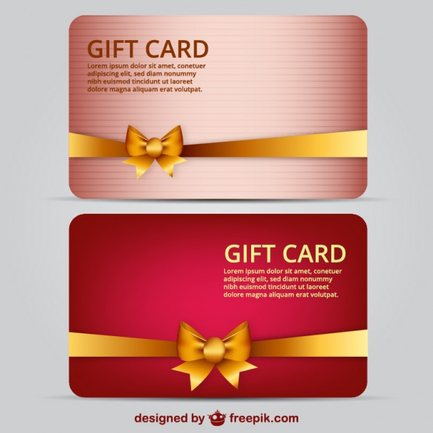 626x626 Gift Card Template Vector Free Download