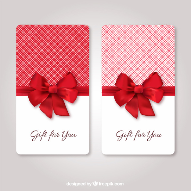 626x626 Gift Cards Template Vector Free Download