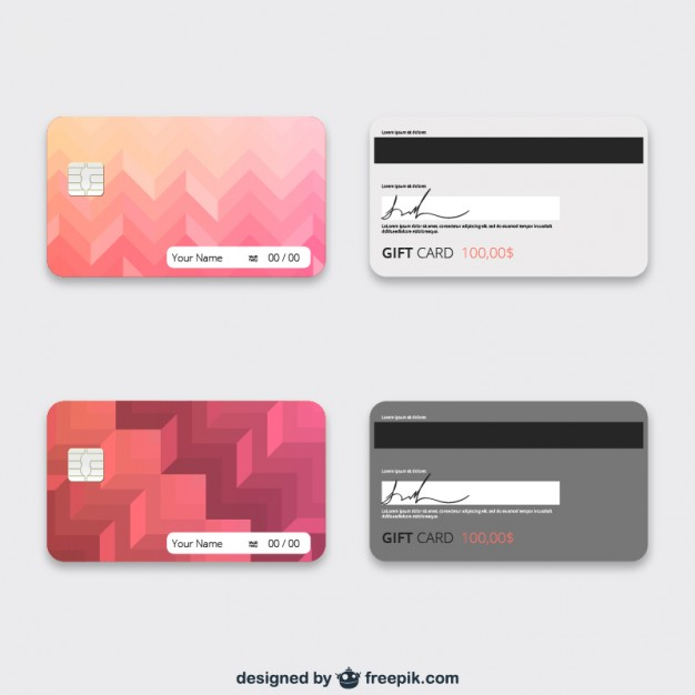 626x626 Gift Cards Template Vector Free Vector Download In .ai, .eps