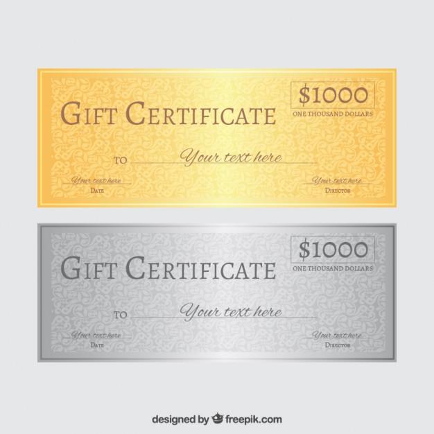 626x626 Gift Certificate Vector Free Download