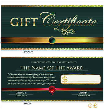 340x358 Gift Certificate Template Free Vector Download (16,730 Free Vector