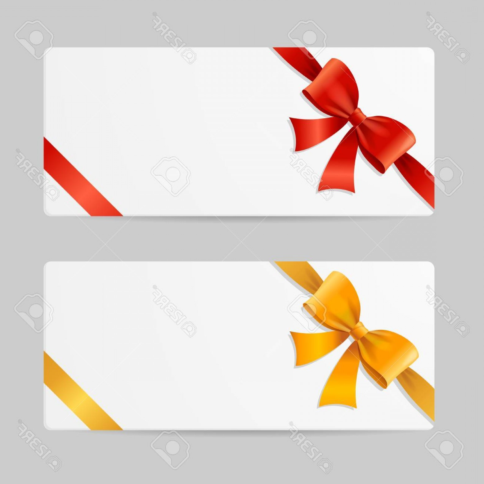 1560x1560 Photostock Vector Gift Card Template With Res And Gold Ribbon
