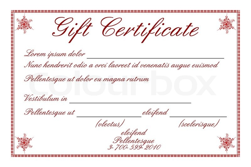 800x533 Certificate Of Gift