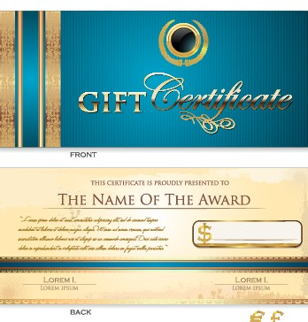 348x364 Creative Gift Certificate Template Vector 02 Free Download