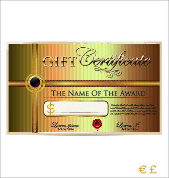 340x358 Free Vector Gift Certificate Free Vector Download (3,612 Free
