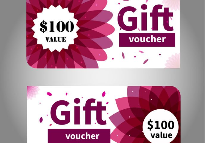 689x480 Free Gift Voucher, Gift Card Vector Template Free Download