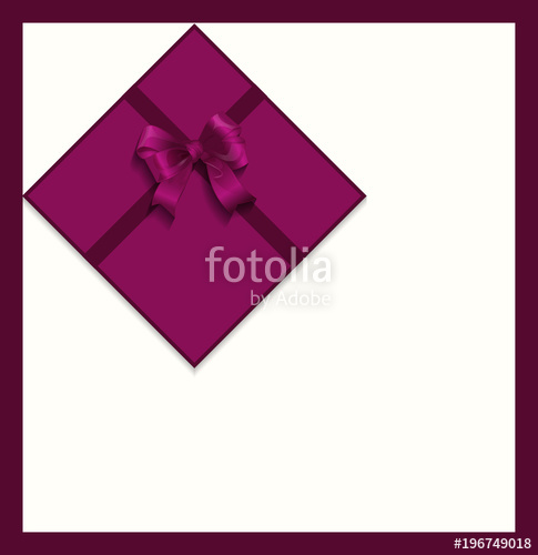 485x500 Gift Violet Satin Ribbon Bow Gift Card, Vector Stock Image And
