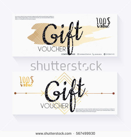 450x470 Gift Certificate Design Template Elegant Gift Voucher Template