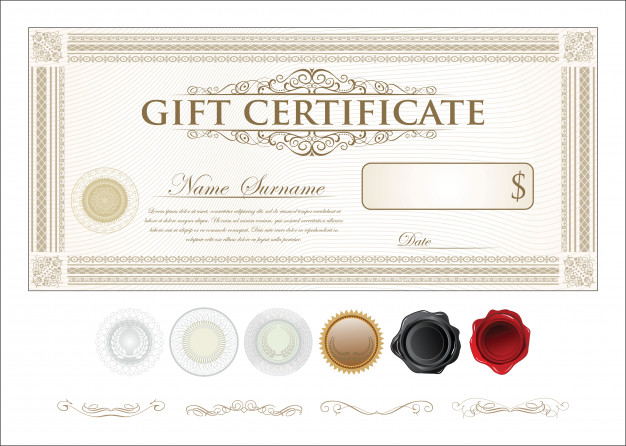 626x446 Vector Premium Gift Certificate Template Vector Premium Download