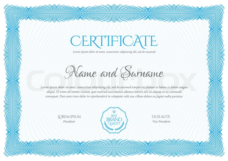 800x566 Certificate. Template Diploma Currency Border. Award Background