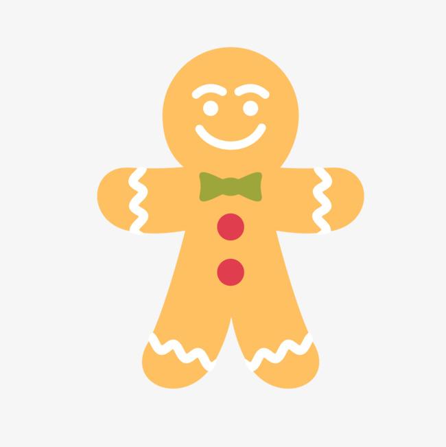 650x651 Gingerbread Man Vectors, Hand Painted Gingerbread Man, Cartoon